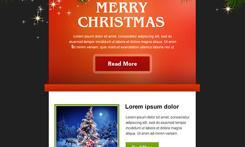 Christmas Is Coming Download A Free Holiday Email Template PSD - Free holiday email templates