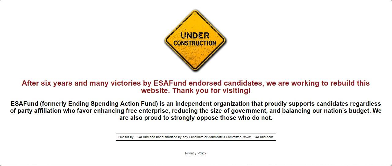ESAFund Under Construction
