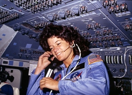 Preview_sally_ride__america_s_first_woman_astronaut_communitcates_with_ground_controllers_from_the_flight_deck_-_nara_-_541940