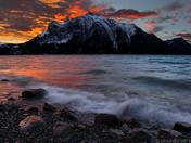 Sunrise over Mount Michener