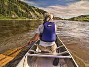 Paddling Down the Red Deer River
