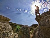 Hiking at Writing-on-Stone