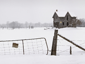 Old Farmhouse In Winter/Rob Roy/Blue Mtns. On