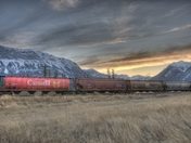 CN Rail at Sunset