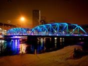 Langevin Bridge on a snowy night