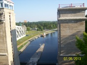 Top of the Peterborogh Lift Lock
