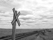 Train tracks in the Alberta Badlands