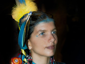 Pow-Wow Night-time Portrait