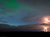 Lightning with a dash of Aurora