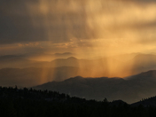 Rain squall over Osoyoos, B.C.