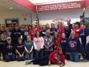 Maple Wood School in Somersworth NH showing showing their Red Sox pride!