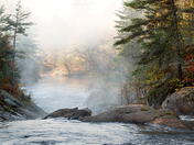 Morning Mist/Black River/Kawartha Lakes On