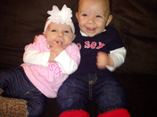 cousins ready for game 6! Go Sox!!