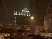 Snow in Downtown Jackson (King Edward Hotel)