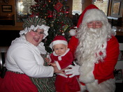 My first visit with Mr. and Mrs. Santa!