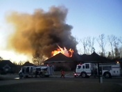 House-fire at Reservoir in Stonebridge Subdivision