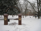 SNOW FALL AT OLE MISS CAMPUS, PHOTO CREDIT MATT MCCARTHY