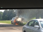 Car burning now on 1-55 about mile marker 145. No injuries