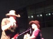 Frank Foster and Ashton singing Friday night