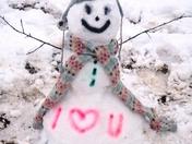 Valentines Snowman
