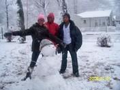 maya mama n Roger by the SNOWMAN