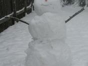 Tompkins family snowman
