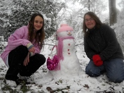 S'Moore girls and snow princess