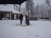 snow fun with friends