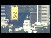 View Of Beautiful Downtown Sacramento From LiveCopter 3HD