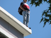 Downtown: Woman threatening to jump - Photo by Michael Cheng