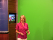 Eileen Javora at the green screen.