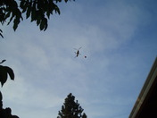 HELI OVER OUR HOUSE ON DIXON HILL ROAD