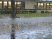 Cleveland Elementary Flooded
