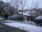 Snow By Folsom Lake