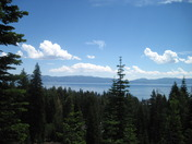 Thunder clouds moving over Lake Tahoe