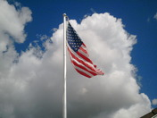 Flag & Clouds