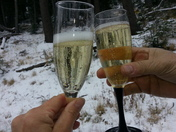 First toast to the new ski season