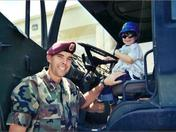 Daddy with Joshua Harris in Army truck