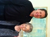 WISN 12 News reporter/anchor Terry Sater and his mother, Muriel