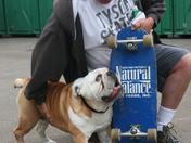 Tyson The Skateboarding Dog