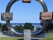 Compass Sculpture Lakefront