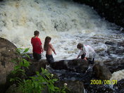 Kids by the falls