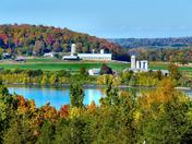 Farm along Lake Champlain in Vermont
