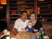 GRANPA ,DAVID AND GRANDMA THANKS GIVING MEAL IN LAS VEGAS