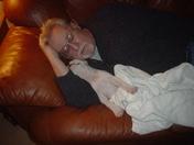 Cracker & me taking a nap