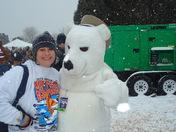 Jennie Moore and Polar Bear