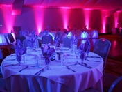 Our lighting for a wedding at the Lake Natoma Inn
