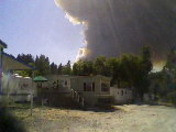 Dobbins fire view from North San Juan