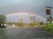 Double Rainbow in Saranac Lake