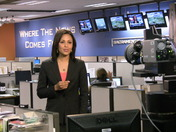 Adrienne Bankert in the news room.